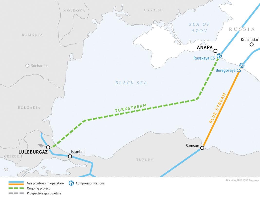 Map of Turkstream Pipeline